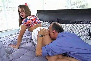 Daddy Fucks Liza And Glen Hammer The Bases